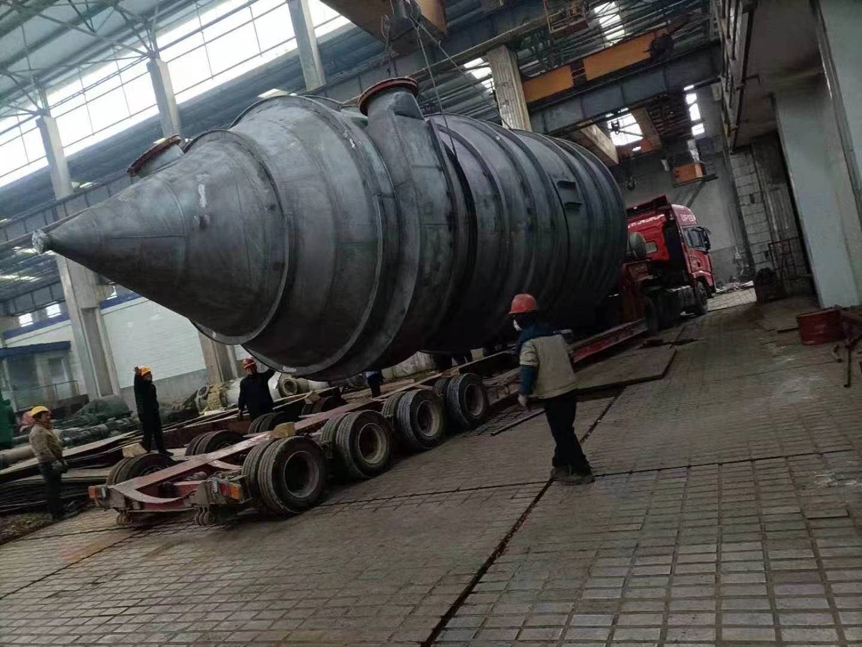 宝鸡宝冶钛镍给甘肃某企业制作的钛材多效蒸发设备顺...